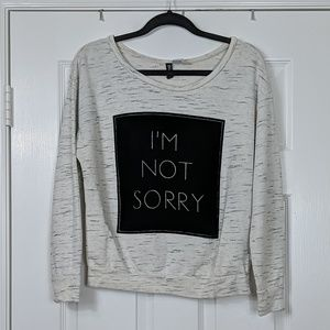 Divided I'm Not Sorry Lightweight Sweater